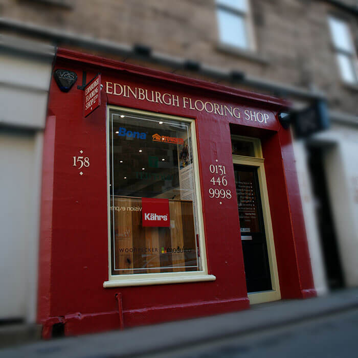 Outside the Edinburgh Flooring Shop Edinburgh
